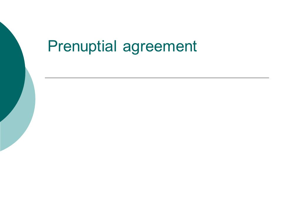 Prenuptial Agreement Ppt Download