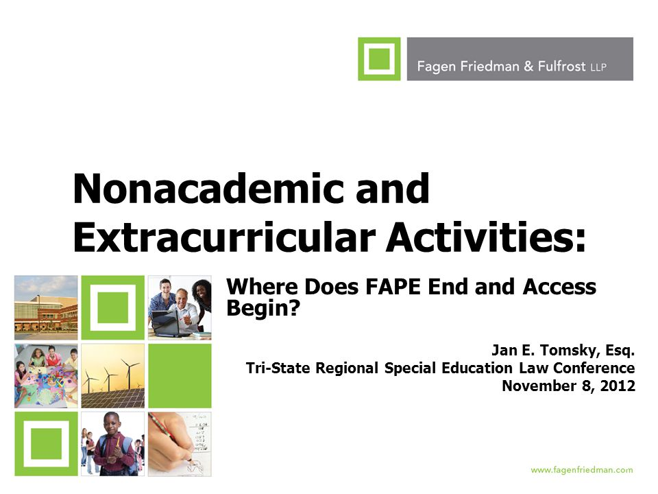Nonacademic and Extracurricular Activities: