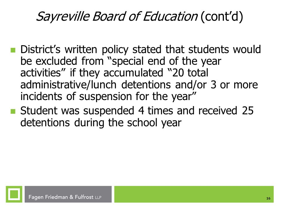Sayreville Board of Education (cont'd)