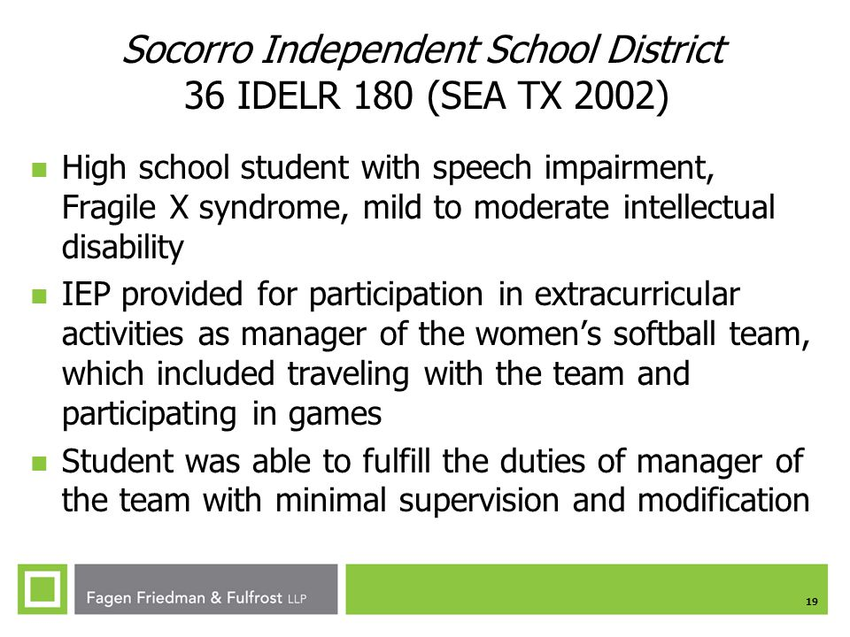 Socorro Independent School District 36 IDELR 180 (SEA TX 2002)