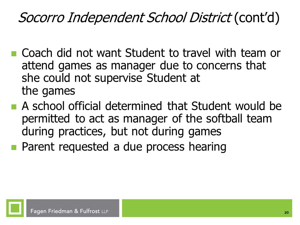 Socorro Independent School District (cont'd)