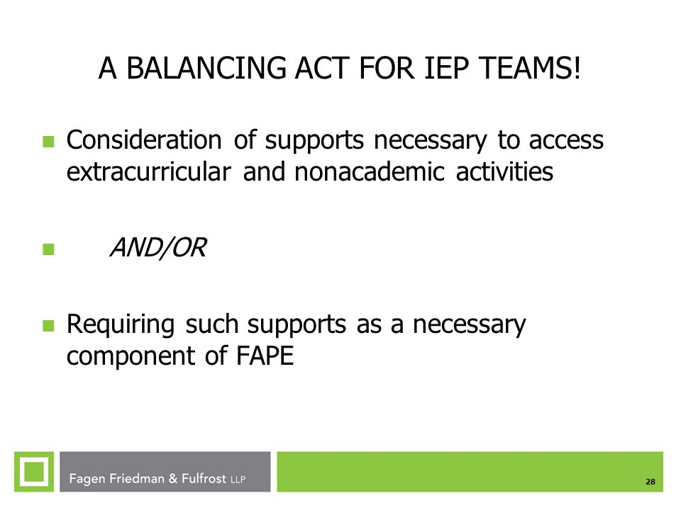 A BALANCING ACT FOR IEP TEAMS!