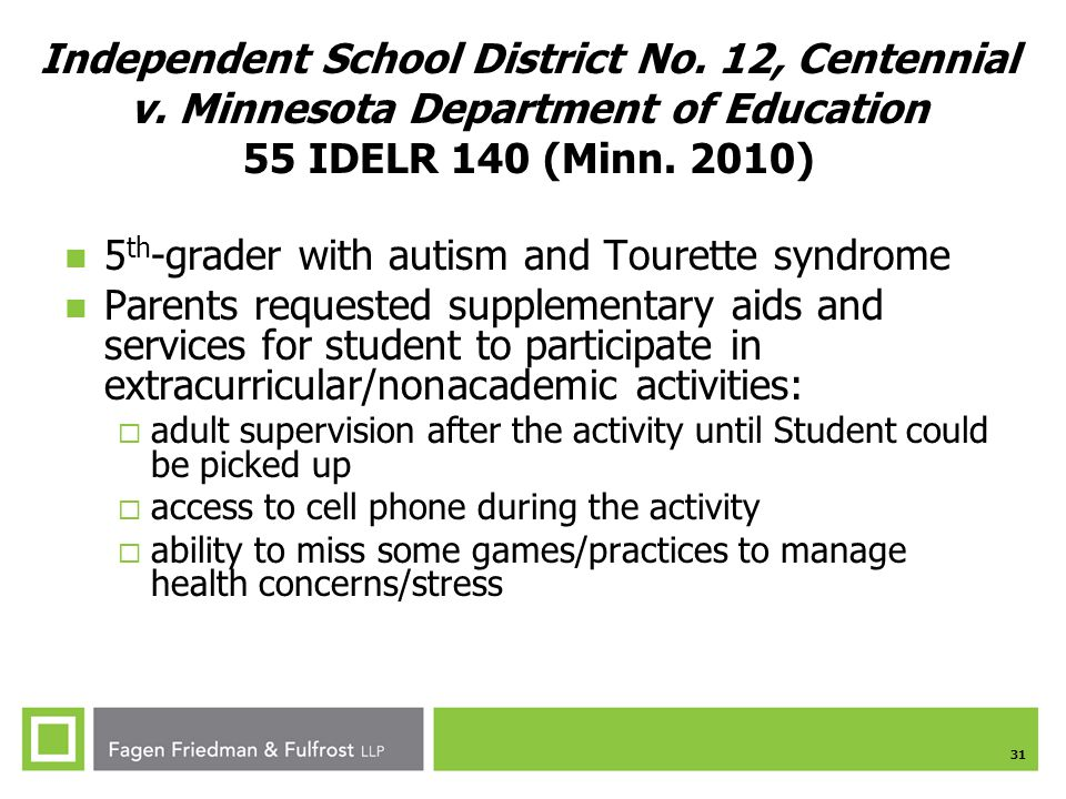 5th-grader with autism and Tourette syndrome