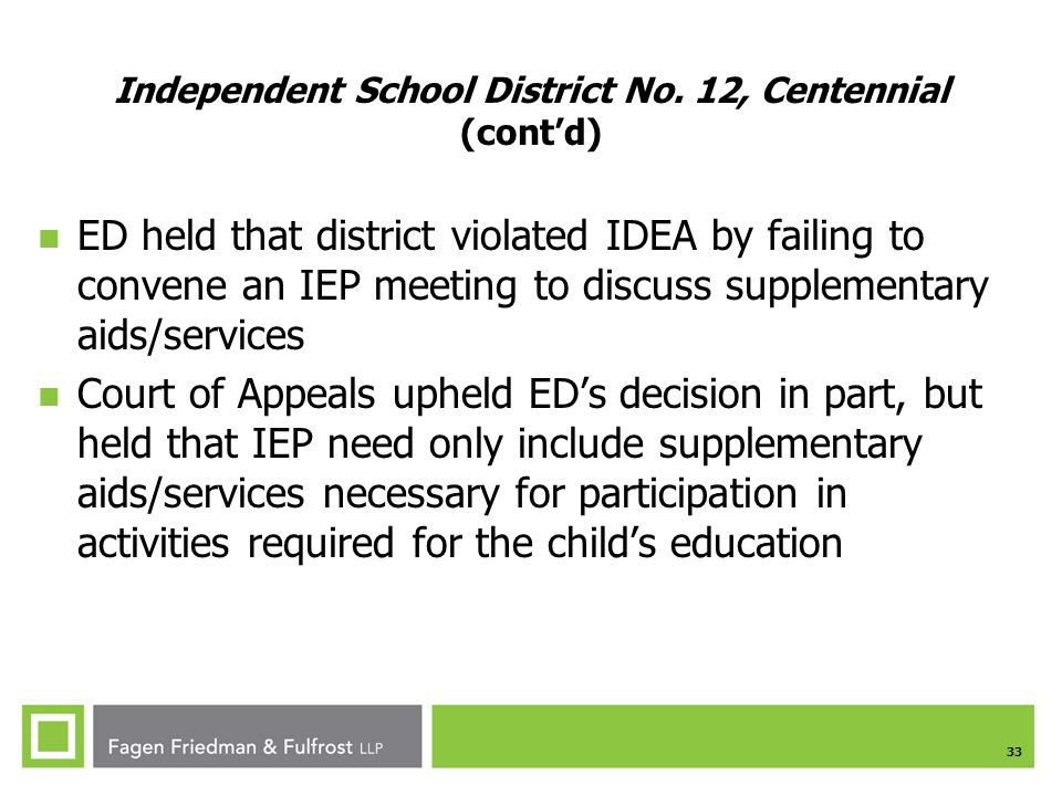 Independent School District No. 12, Centennial (cont'd)