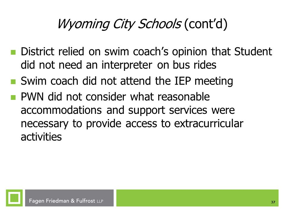 Wyoming City Schools (cont'd)