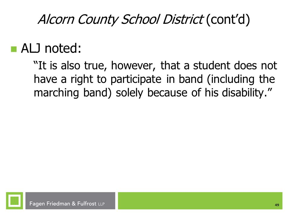 Alcorn County School District (cont'd)