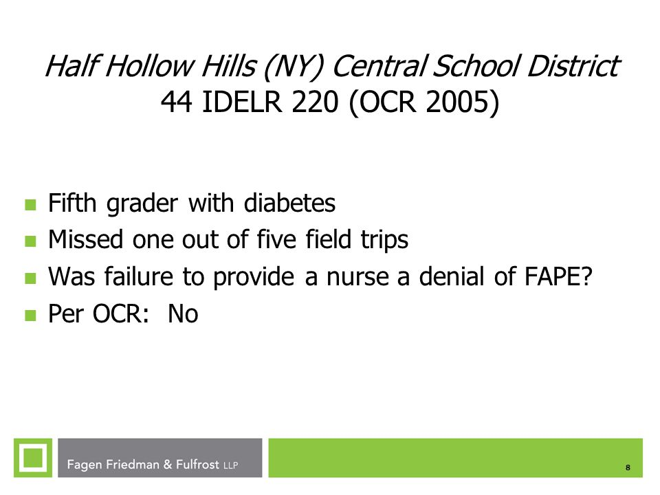Half Hollow Hills (NY) Central School District 44 IDELR 220 (OCR 2005)