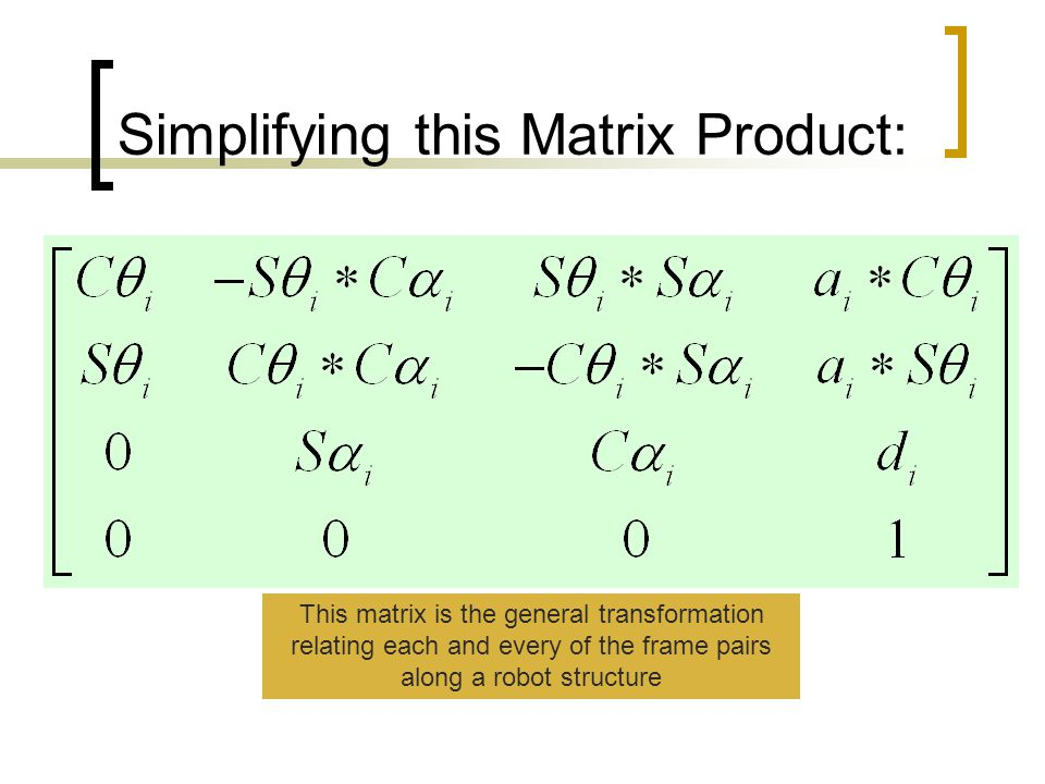 Simplifying this Matrix Product: