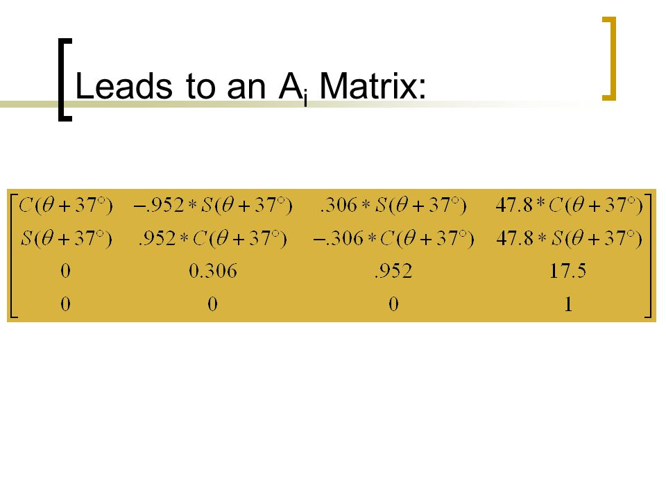 Leads to an Ai Matrix: