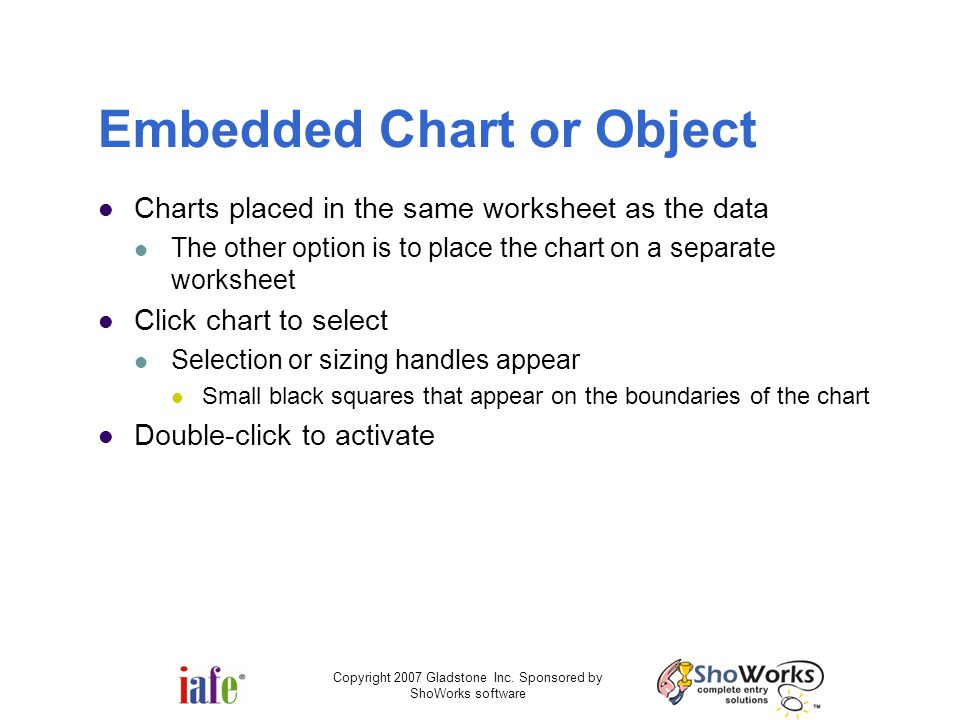 Embedded Chart or Object