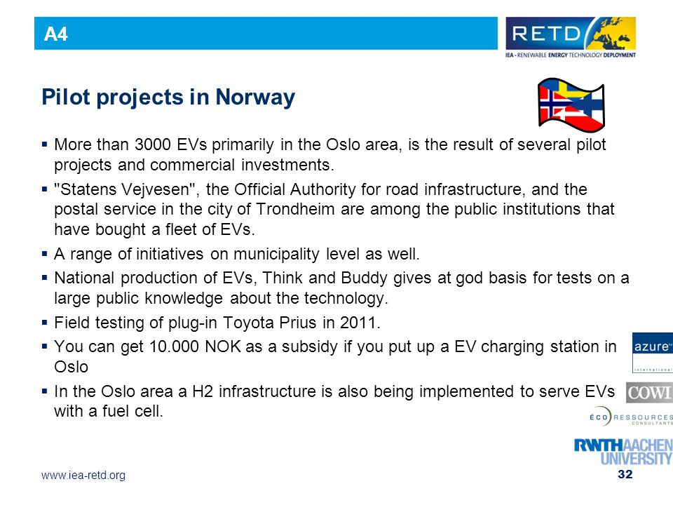 Pilot projects in Norway