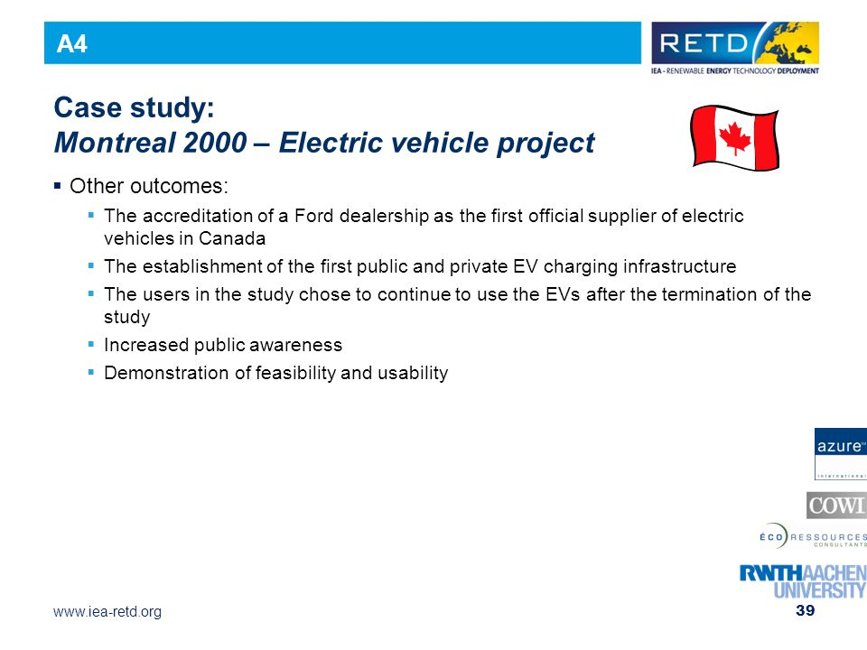 Case study: Montreal 2000 – Electric vehicle project