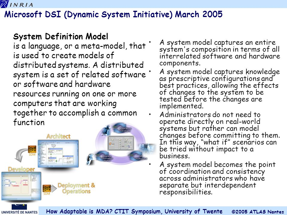 Microsoft DSI (Dynamic System Initiative) March 2005