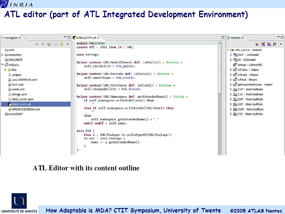 ATL editor (part of ATL Integrated Development Environment)