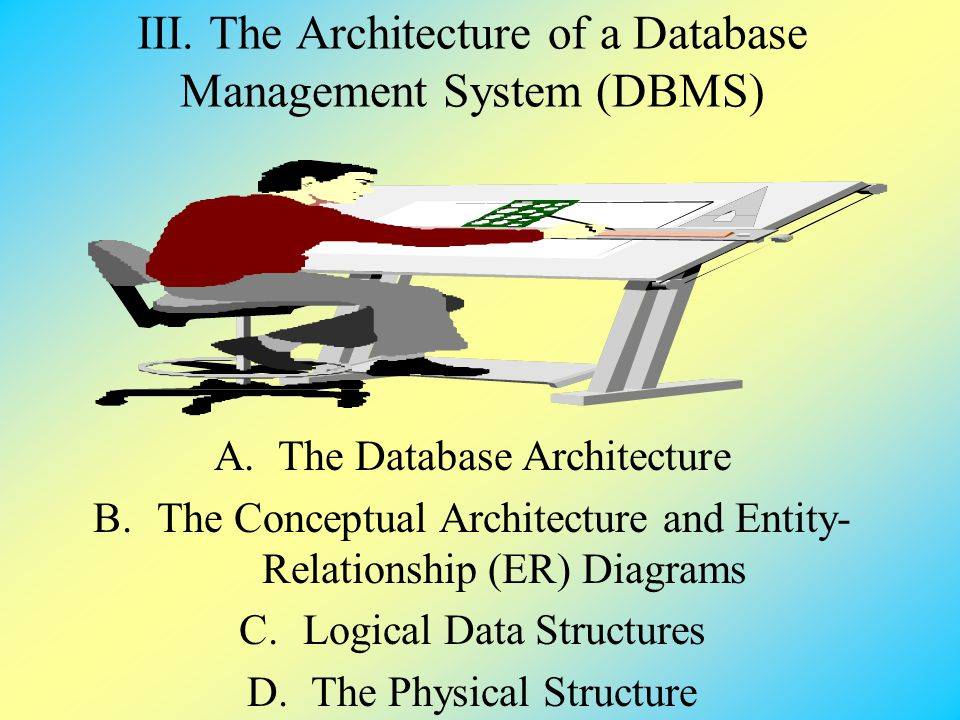 III. The Architecture of a Database Management System (DBMS)