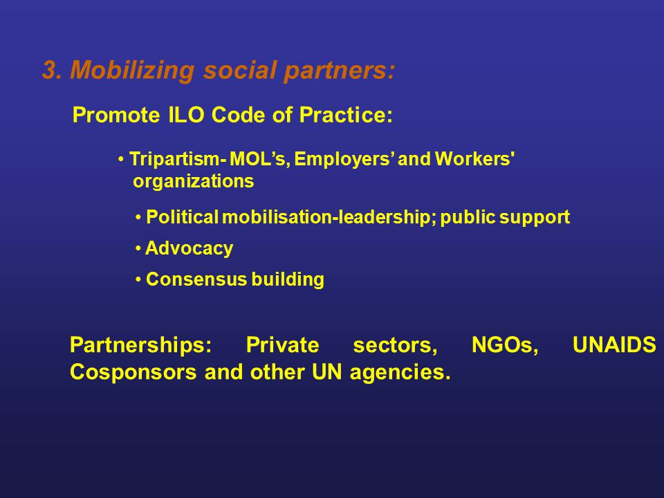 3. Mobilizing social partners: