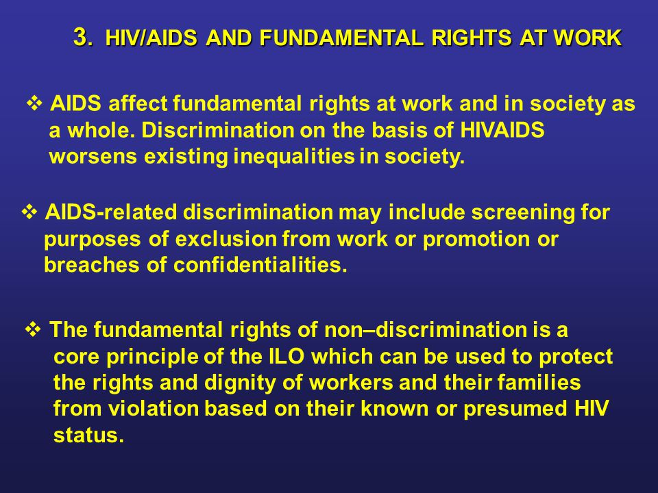 3. HIV/AIDS AND FUNDAMENTAL RIGHTS AT WORK