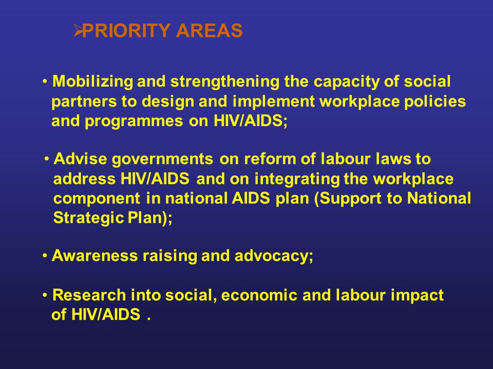 PRIORITY AREAS Mobilizing and strengthening the capacity of social