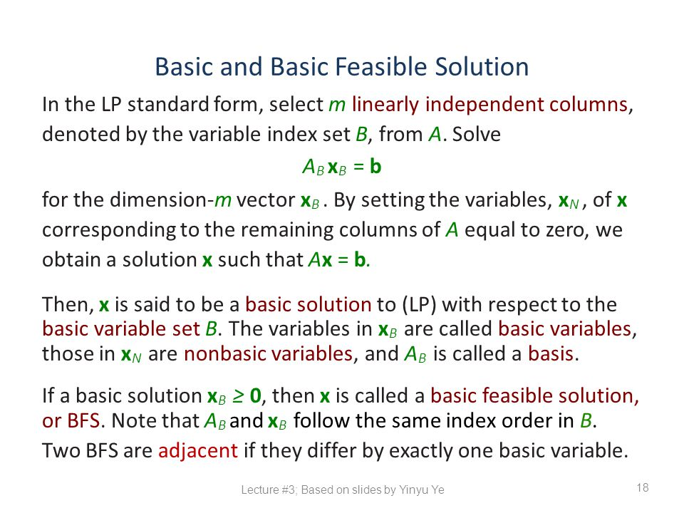 Basic and Basic Feasible Solution