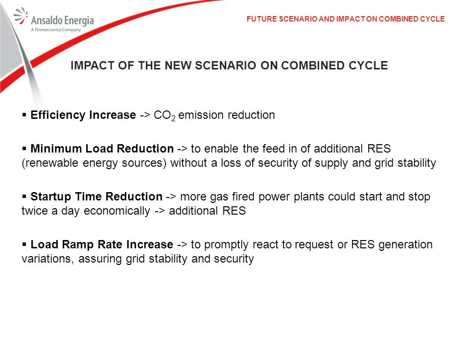 Impact of the New Scenario on Combined Cycle