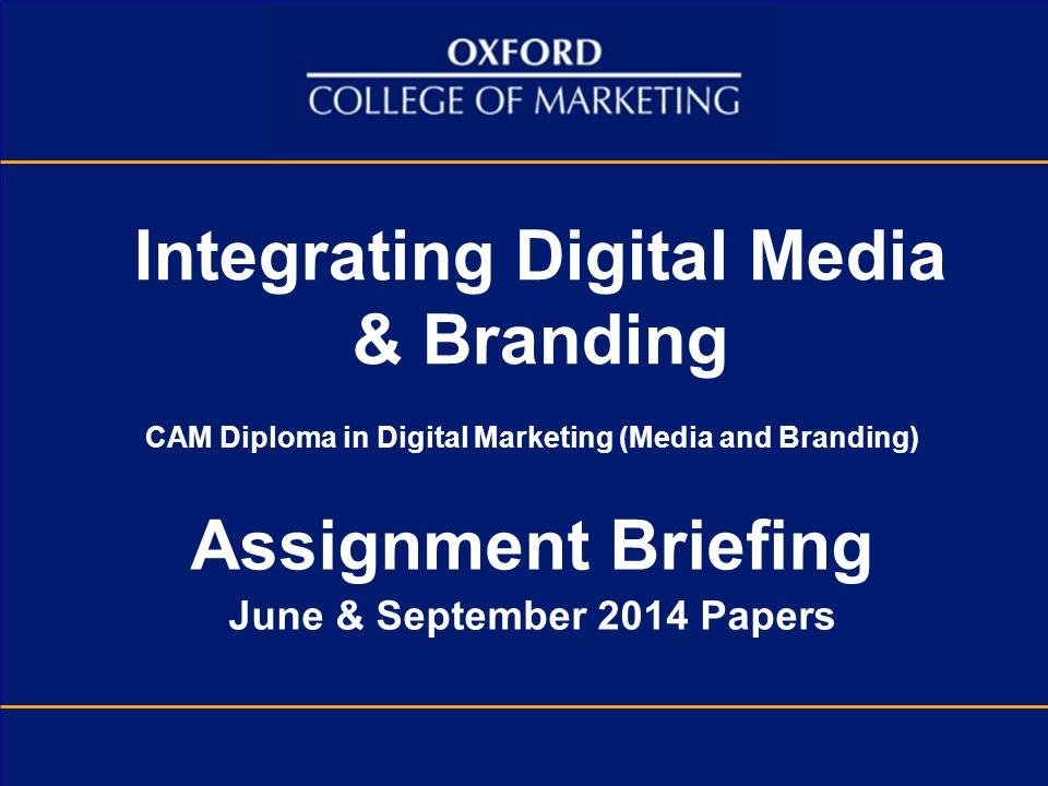 Integrating Digital Media & Branding