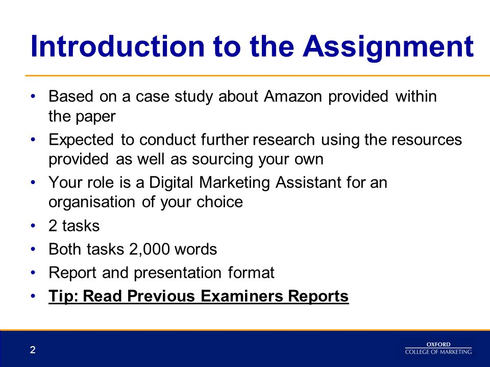 Introduction to the Assignment