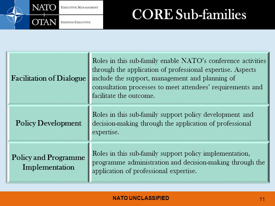 Facilitation of Dialogue Policy and Programme Implementation