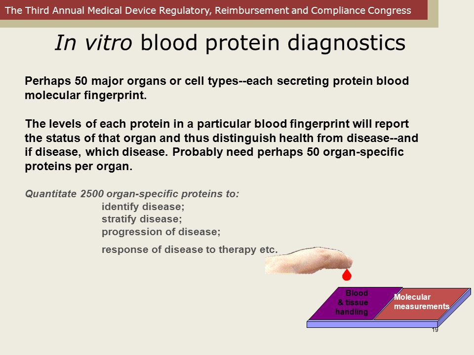 In vitro blood protein diagnostics