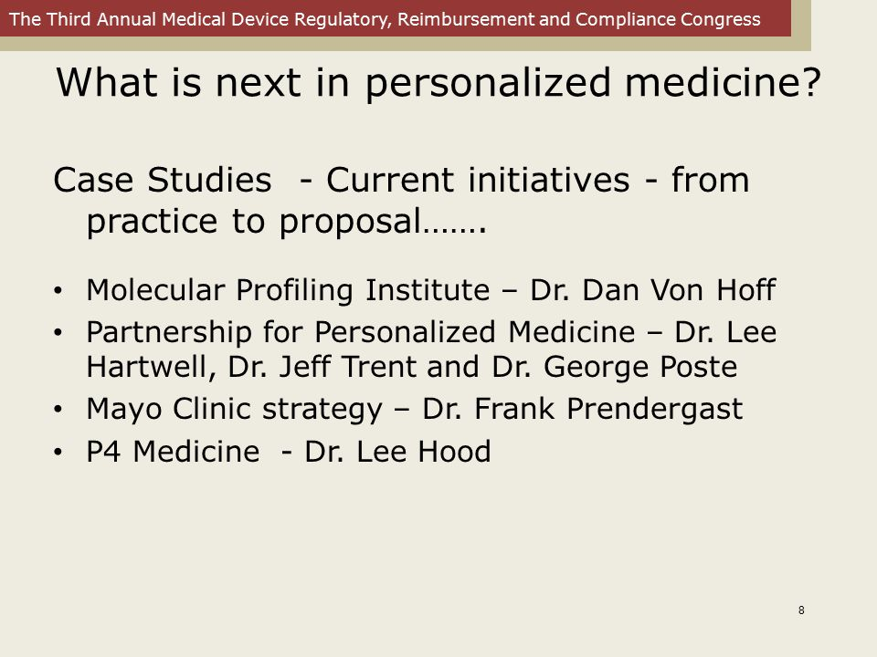 What is next in personalized medicine