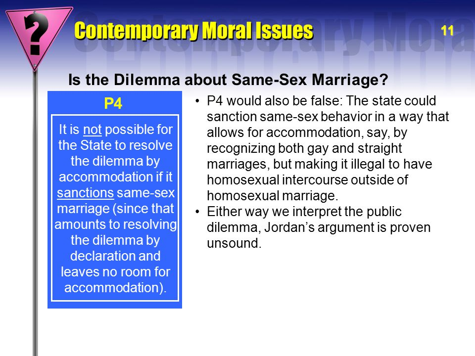 Is the Dilemma about Same-Sex Marriage