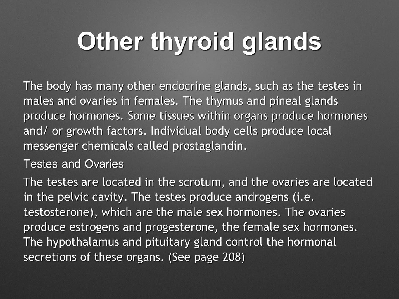 Other thyroid glands