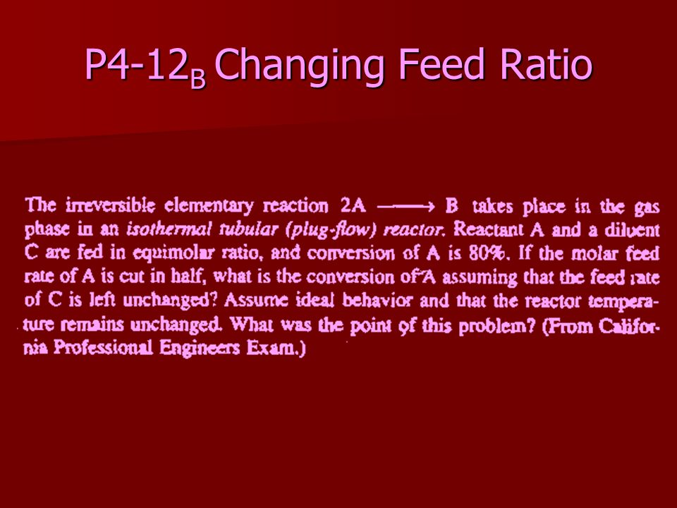P4-12B Changing Feed Ratio