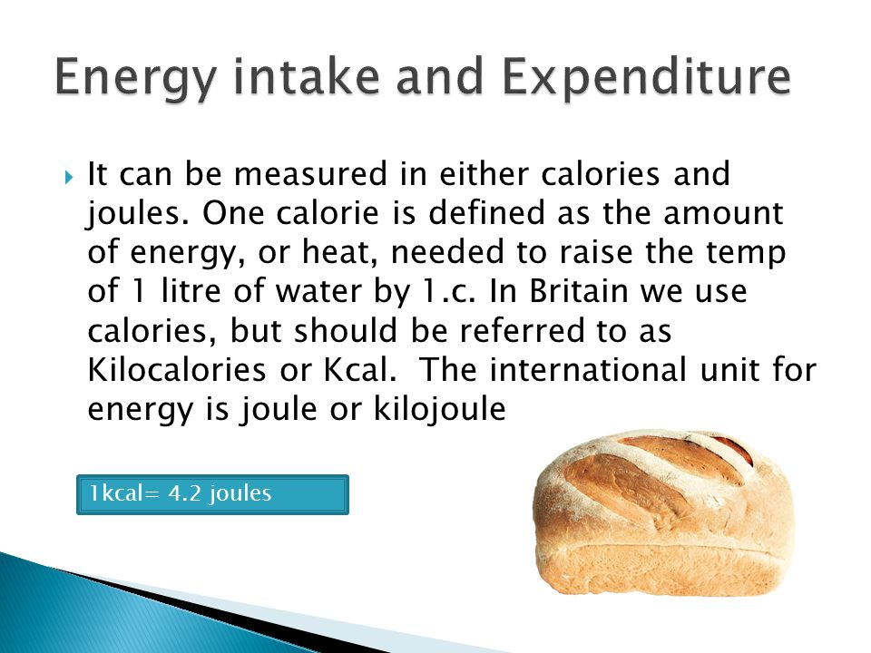 the concept of energy intake and 2018-10-12 what is energy what is  than we need from food and drinks this article will explain the concept of energy and how it  can help to control you overall calorie intake some foods with a higher energy density such.