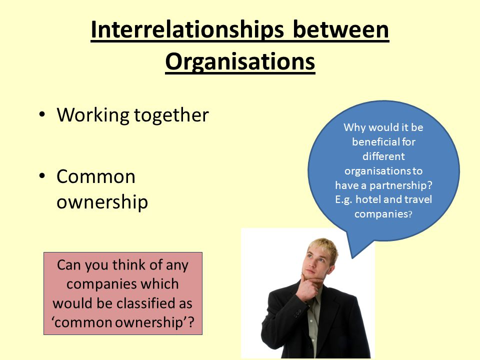 Interrelationships between Organisations