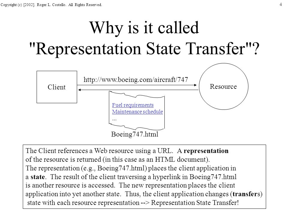 Why is it called Representation State Transfer