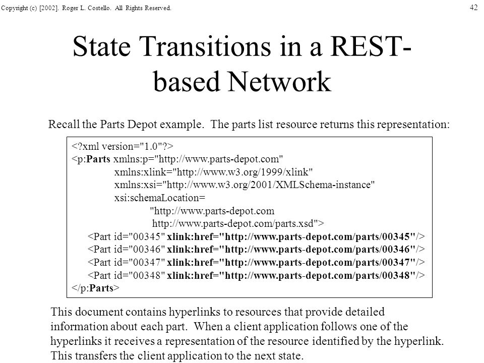 State Transitions in a REST-based Network
