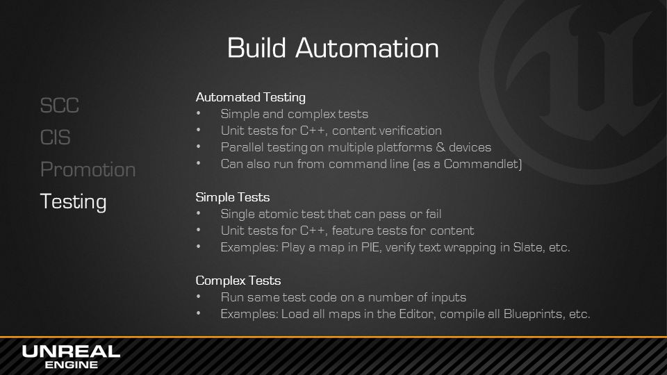 Build Automation SCC CIS Promotion Testing Automated Testing