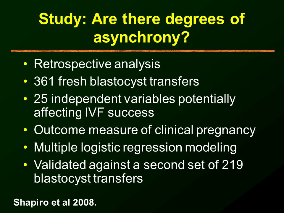 Study: Are there degrees of asynchrony