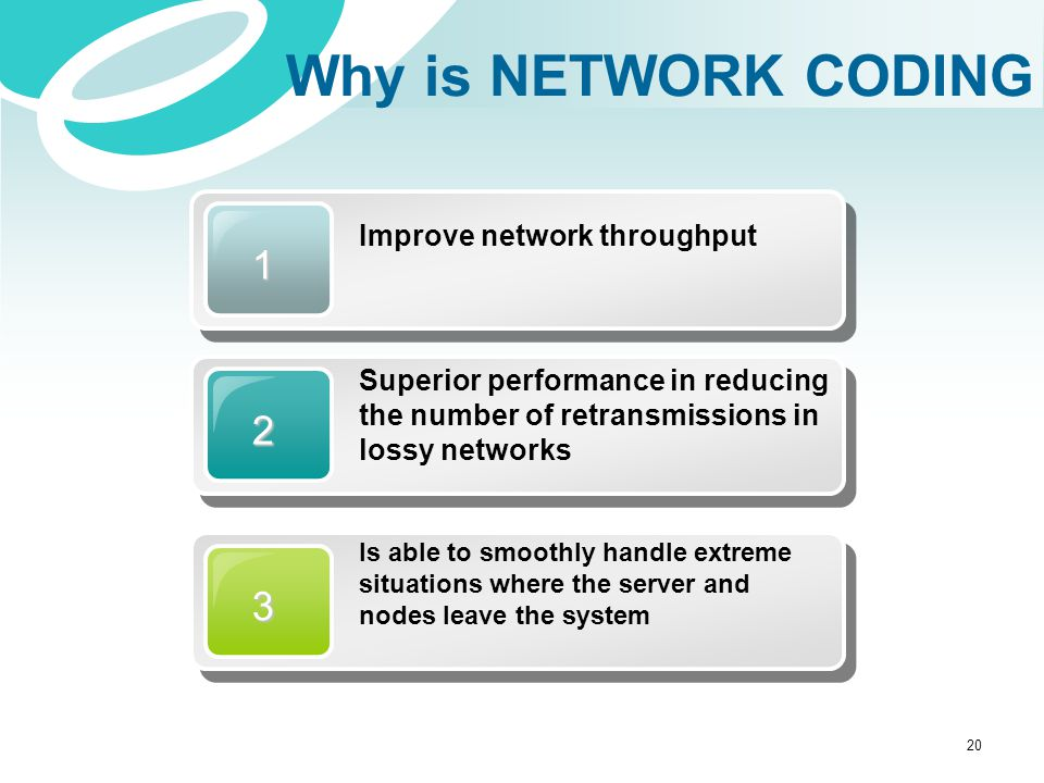 Why is NETWORK CODING 1 2 3 Improve network throughput