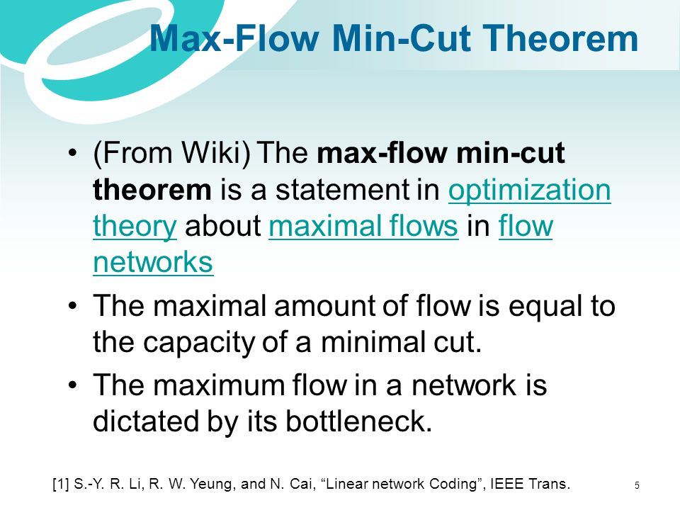 Max-Flow Min-Cut Theorem