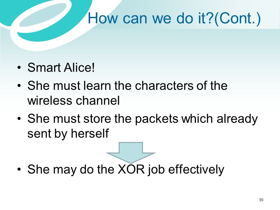 How can we do it (Cont.) Smart Alice!