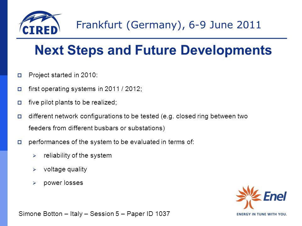 Next Steps and Future Developments