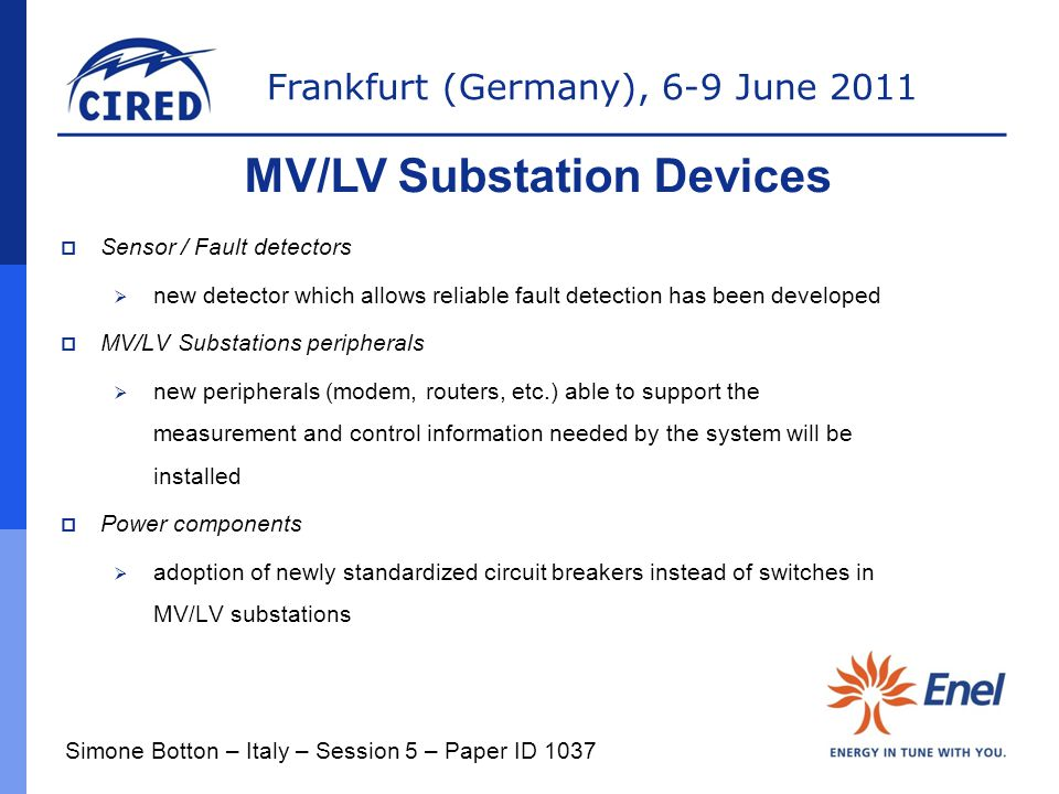 MV/LV Substation Devices