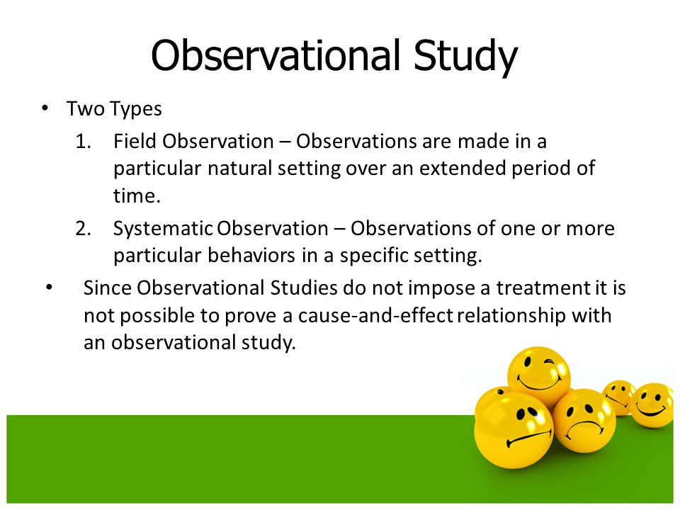 Experiments And Observational Studies Ppt Download