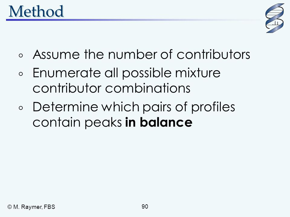 Method Assume the number of contributors