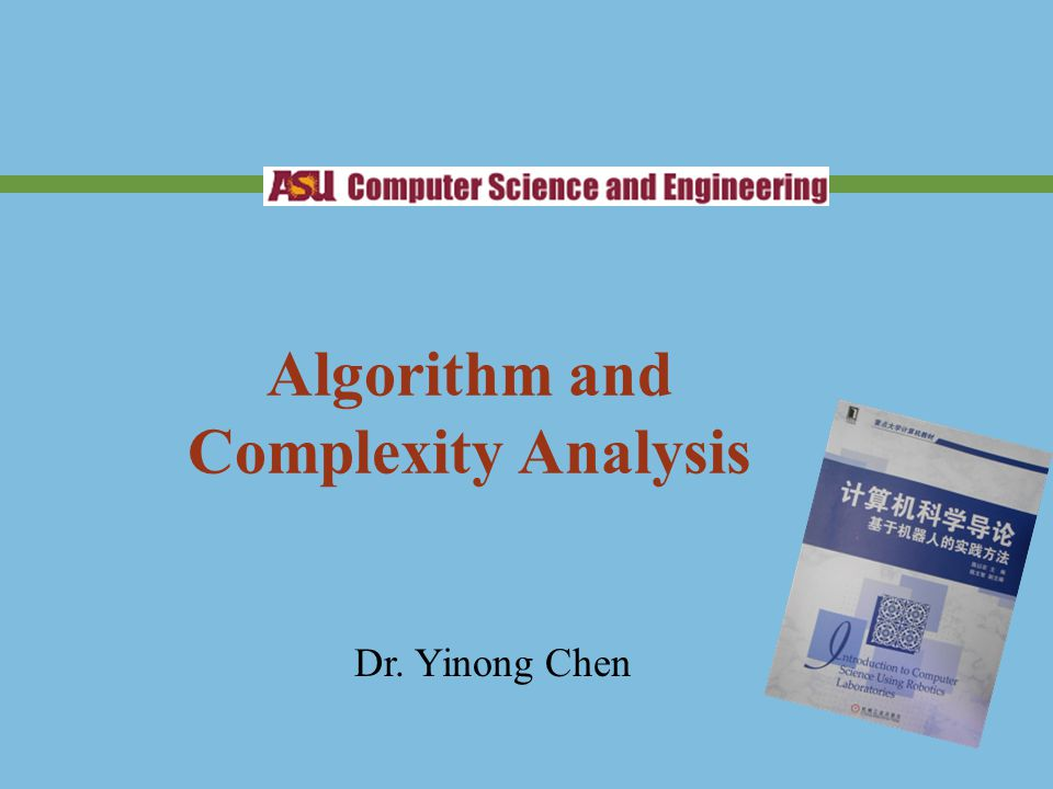Algorithm and Complexity Analysis