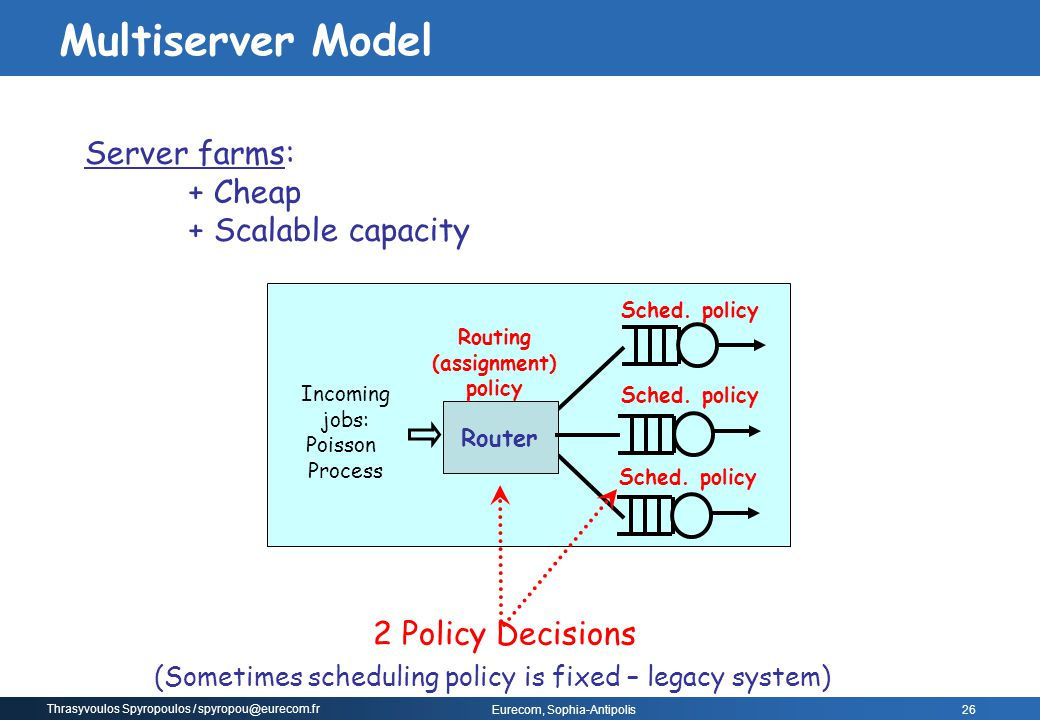 (Sometimes scheduling policy is fixed – legacy system)