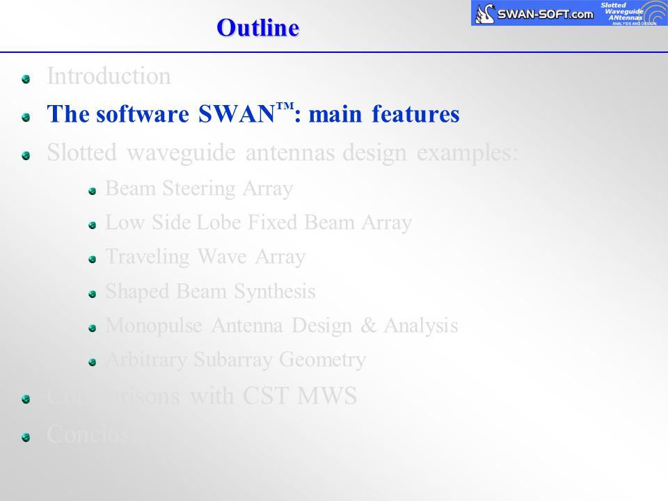 SWAN™ - A fast and accurate CAD tool for slotted waveguide