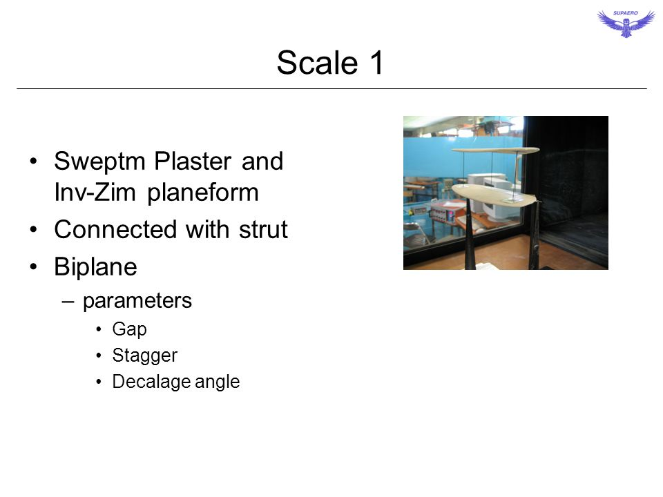 Scale 1 Sweptm Plaster and Inv-Zim planeform Connected with strut