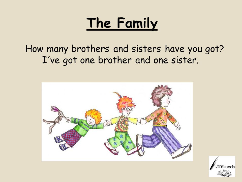 The Family How many brothers and sisters have you got